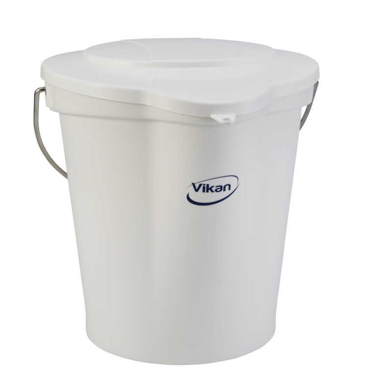 Hink Vikan 12 L, plast VIT