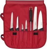 Knife roll nylon, 7-bin / RED