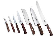 Kitchen set Victorinox (large), 7 knives wood