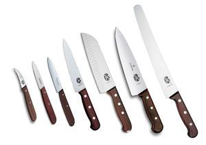 Köksset Victorinox (stora), 7 knivar trä