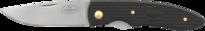 Fällkniv PCau, 73 mm CoS/svart/guld (B)