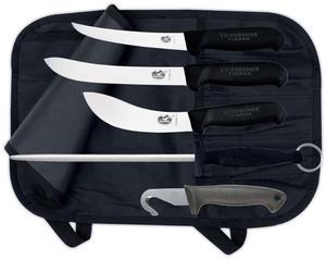 Jakt-/Slaktset Victorinox, 4 knivar + stål