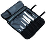 Knife roll nylon, 7-bin / black /strap